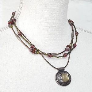 Chico's beaded pendant necklace
